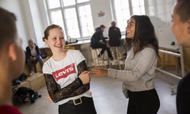 Elever til konflikthåndteringskursus i Ungdomsbyen