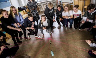 Elever til kursus i konflikthåndtering
