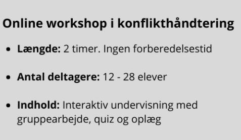 Online workshop konflikthåndtering